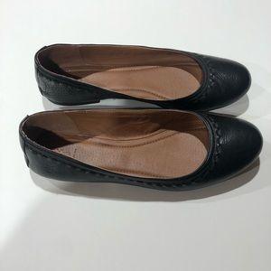 Frye Carson Ballet Flats Black 9 LIKE NEW!
